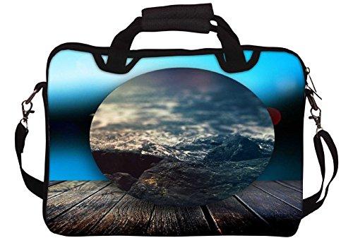 Snoogg Circled Strand auf der Plattform 2603 Gedruckt Notebook-Tasche mit Schultergurt 15 bis 15,6 Zoll