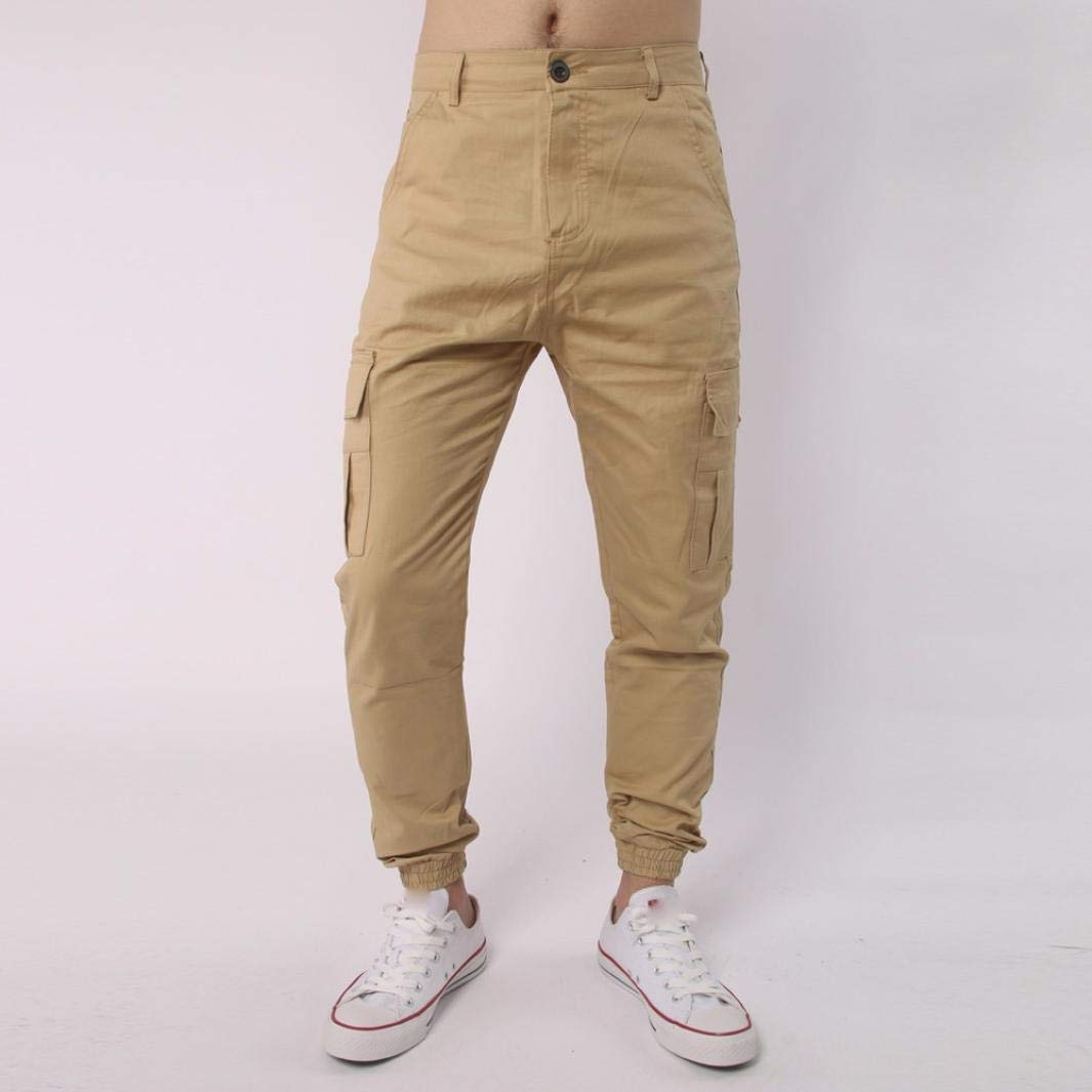 Molyveva Mens Casual Pants Sizes 28 to 40 with Button /& Zip Comfy Trousers