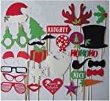 Colorful Props On A Stick Mustache Photo Booth Party Fun Wedding Christmas Birthday Favor (27PCS)