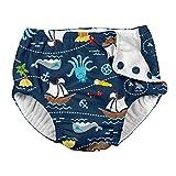 i play Boys Swim Diaper Navy Pirate Ship-12 Months