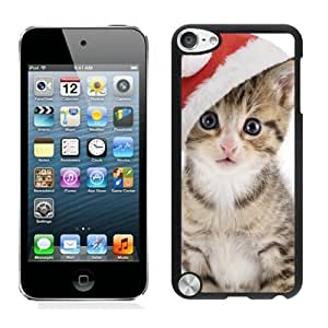 Best Buy Design Christmas Cat Black iPod Touch 5 Case 24
