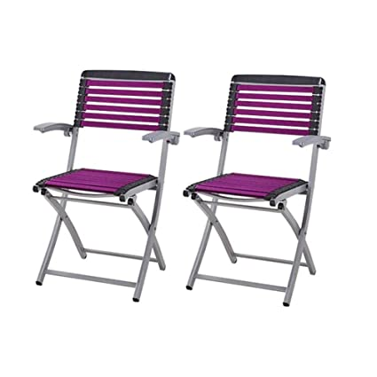 WGXX Silla Plegable Pack De 2, Metal Simple Silla Sillón ...