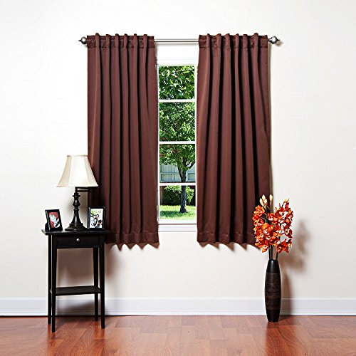 (The Silk Cocoon Thermal Insulated Blackout Curtains-Back Tab/ Rod Pocket each 52