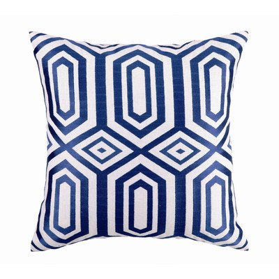 Hotel Soho Linen Embroidered Pillow Color: Blue