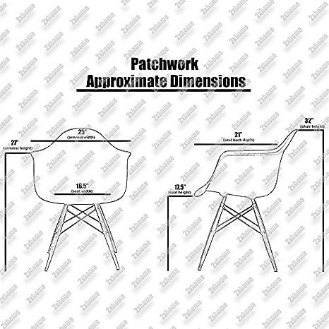 Amazon.com: 2xhome, sillones estilo Eames, Tela: Kitchen ...