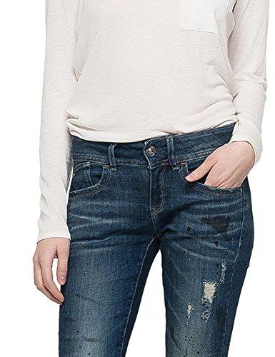 G-Star Women's Lynn Mid Skinny Ankle Denim Blue Pants Blue