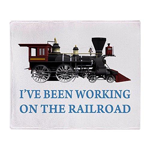 CafePress I've Been Working On The Railroad Soft Fleece Throw Blanket, 50