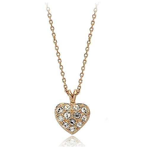 7be2a7a70b25 signore-signori oro corazón Swarovski Elementos Cristal Colgante ...