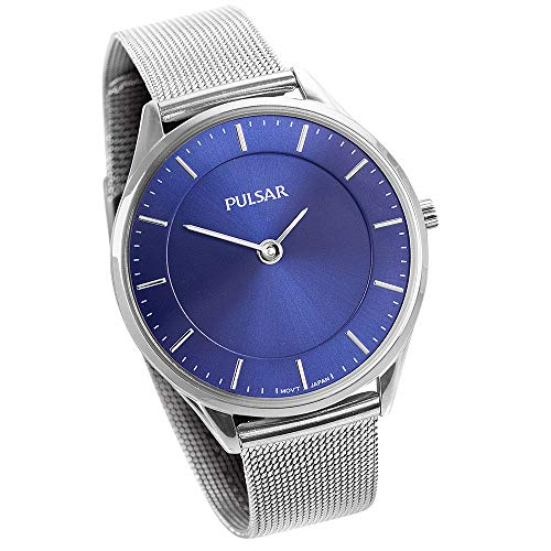Pulsar Ladies Blue Mesh Watch - Color Blue (Pulsar Mesh Watch)