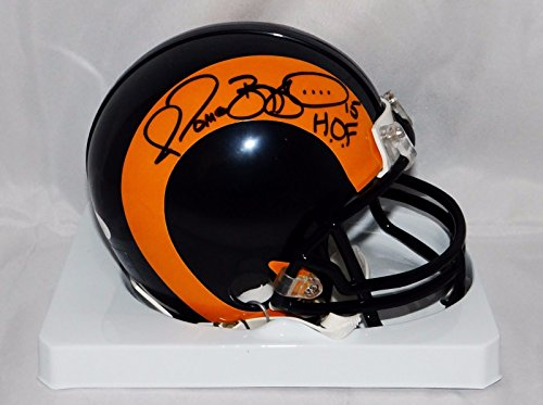 (Jerome Bettis Autographed St. Louis Rams TB Mini Helmet With HOF and JSA W Auth)