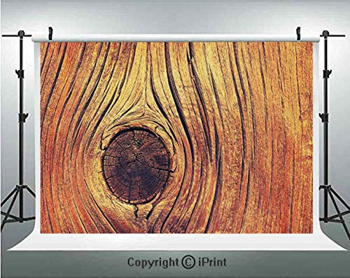 Rustic Home Decor Photography Backdrops Lfe Tree Concept with Divided Core Macro Circles Habitat Natural Wonder Photo,Birthday Party Background Customized Microfiber Photo Studio ()