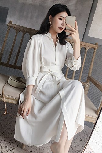 bianca Girdle s Women Temperamento Sleeve Dress Long Cropped Stts Shirt qT8zw5