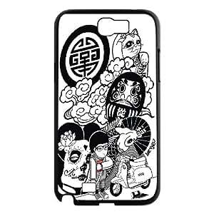 Samsung Galaxy Note 2 Case Prosperity, Naza, {Black}