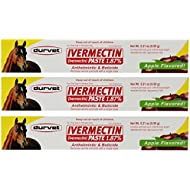 Ivermectin Paste Dewormer - 6.08g dose @ 1.87% Apple Flavor (3-Pack)