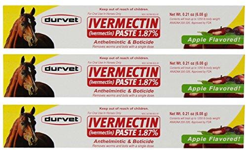 Durvet Ivermectin Paste Equine Dewormer – 3 Pack