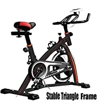 PROGEN 2018 New Heavy Duty 18KG Flywheel Aerobic Studio Training Bike Exercise Bike Fitness Cycling Home Fitness Gym LED Monitor (FREE WATER BOTTLE INCLUDED)
