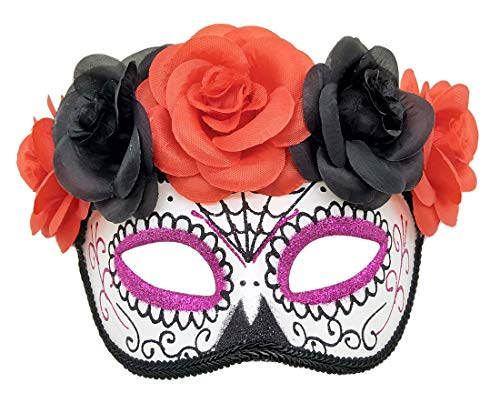 Womens Day of The Dead Masquerade Mask Venetian