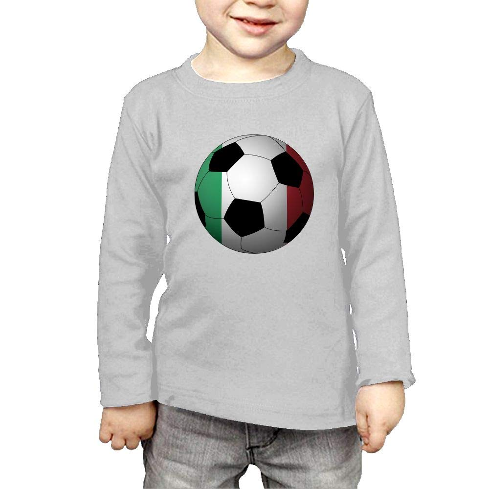 Fryhyu8 Baby Boys Childrens Football Italy Printed Long Sleeve 100/% Cotton Infants T-Shirts