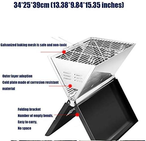 TJLJFTILTIR Portable BBQ BBQ Compact et Portable Grill, Durable, léger BBQ Grill - Idéal pour l'été Barbecue, Pique-niques et extérieur Grill