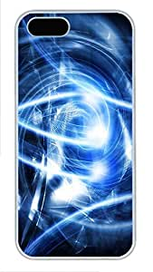 iPhone 5 5S Case Abstract Blue Art PC Custom iPhone 5 5S Case Cover White