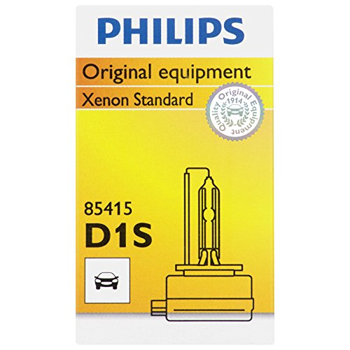 Philips D1S Standard Xenon HID Headlight Bulb, 1 Pack (Philips D1s)