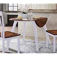 Hommax Furniture Bedingfield Round Drop Leaves Table