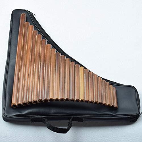 PNBHD レザーバッグ付き22チューブ左手ビター竹パンフルートWoowind音源Panpipes Flauta手作りPanflute (色 : G Key Left Hand)