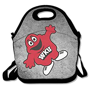 Bakeiy WKU Hilltoppers Football Lunch Tote Bag Lunch Box Neoprene Tote For Kids And Adults For Travel And Picnic School