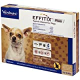 Effitix Plus Topical Solutions for Toy Dogs 5 to 10.9 lbs 3 Doses