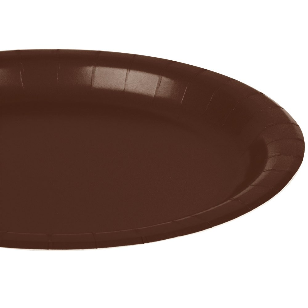 Brown 9 Amscan 24 Pack 9 Amscan Disposable Round Party Luncheon Plates Toys 65821.111000000004