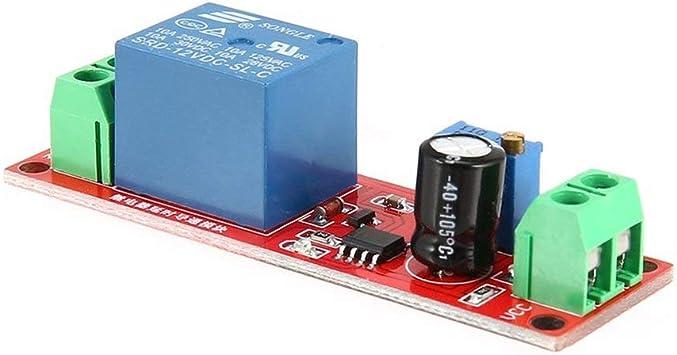 DC 12V Temporizador ajustable Temporizador APAGAR M/ódulo Temporizador Rel/é Interruptor de tiempo 1~10 segundos M/ódulo temporizador