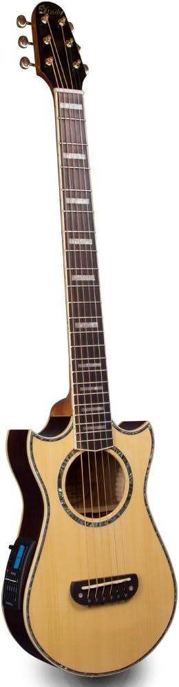 Lindo sólido abeto superior Voyager Travel guitarra ...