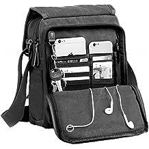 Kenox Durable Vintage Multifunction Canvas Shoulder Bag Business Messenger Bag Ipad Bag Tote Bag Satchel Bag