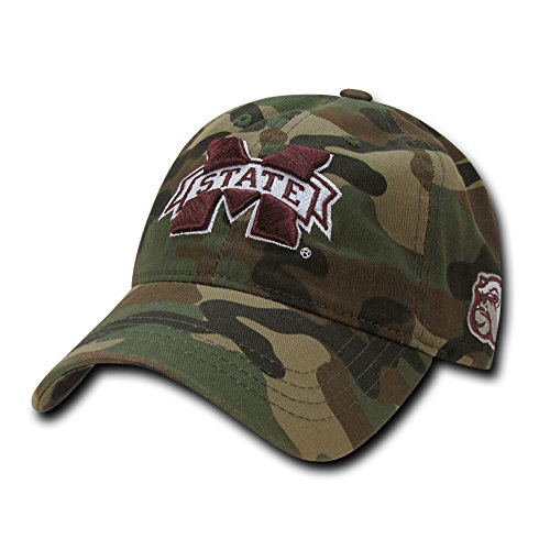 W Republic NCAA Mississippi State Bulldogs Relaxed Camo Cap, One Size, Woodland Camo ()
