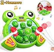 HOMOFY Interactive Whack A Frog Game, Learning, Active, Early Educational Toys for 2 3 4 5 6 7 8 Year Old Boys
