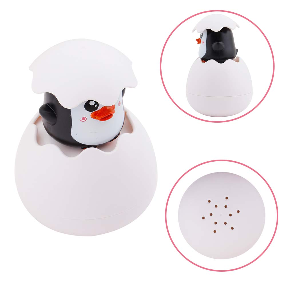 Cute Hidden Penguin Intelligent Bath Toys Floating Water Spray Shower Bathtube Toy for Kid Toddler Age 1,2,3,4 Year Old WISHTIME Baby Bath Toy