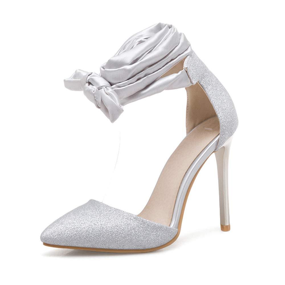 HLG Damen frauen high heels braut sandalen super absatz baotou hohl riemen spitz stiletto hochzeit abend party prom