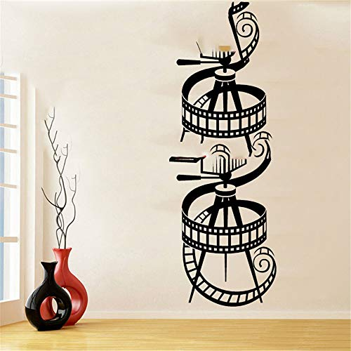 Cenrial Wall Quotes Decal Wall Stickers Art Decor Movie Camera Movie Reel Wall Stickers Home Theater Retro Theater Living Room Decor