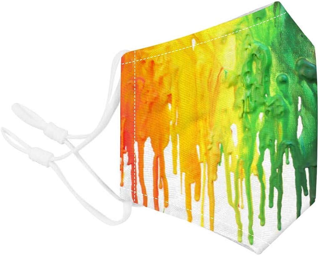 MAWOLY Lavable Impresi/ón de Te/ñIdo Anudado en Color Pa/ñuelo Adulto Multicapa Multifunci/ón El/ástica y Transpirable Algod/ón Reutilizable con Filtros 2Pc Deportes Oficina