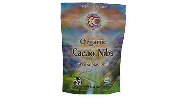 Earth Circle Organics Organic Cacao Nibs Ecuador 8 onzas (227 gramos) (ECN8ow) Earth Circle Organics Organic Cacao Nibs Ecuador 8 ounces (227 ...