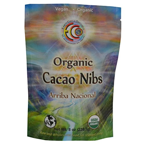 Earth Circle Organics Organic Cacao Nibs Ecuador 8 onzas (227 gramos) (ECN8ow)