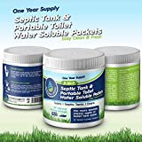 Holding Tank & Septic Tank Deodorizer and Toilet Treatment Tablets.Easy Use Packs