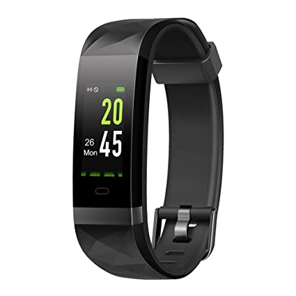moreFit Dazzle Activity Tracker Women, Adjustable Color Screen Fitness Tracker with Heart Rate Monitor, IP68 Waterproof Swimming Exercise Watch Pedometer ...