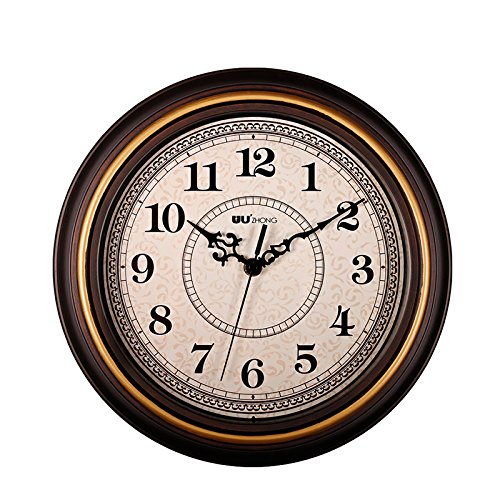 SonYo Silent Non-ticking Round Imitate Wooden Wall Clocks  D