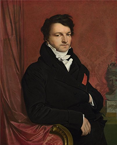 - High Quality Polyster Canvas ,the Beautiful Art Decorative Prints On Canvas Of Oil Painting 'Jean Auguste Dominique Ingres Monsieur De Norvins ', 12 X 15 Inch / 30 X 38 Cm Is Best For Basement Gallery Art And Home Decoration And Gifts