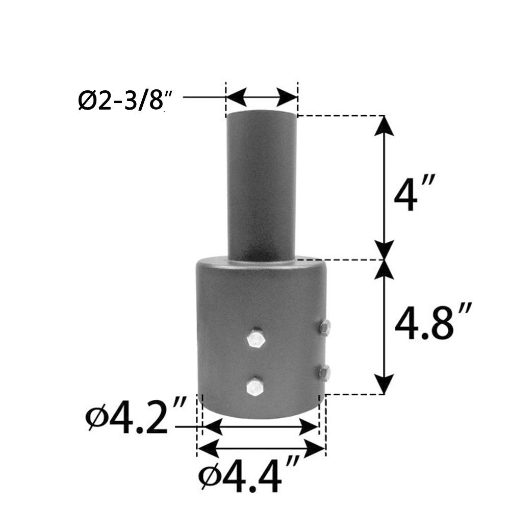 Tidyard Tenon Adapter 3 & 4 inch Round Pole, Mounting Bracket for shoebox Light