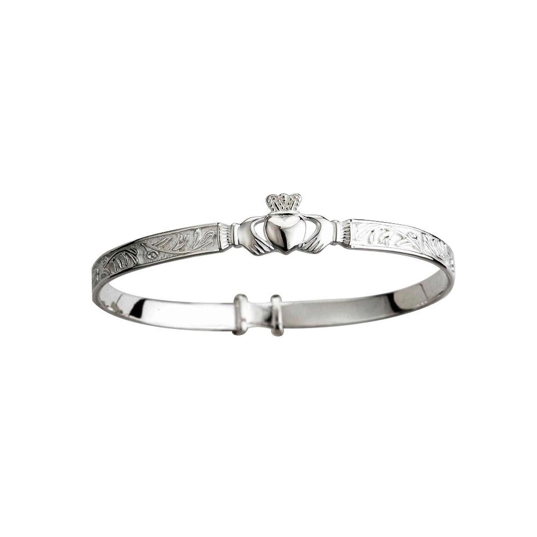 Amazon irish baby bangle claddagh bracelet sterling silver amazon irish baby bangle claddagh bracelet sterling silver link bracelets jewelry buycottarizona Choice Image