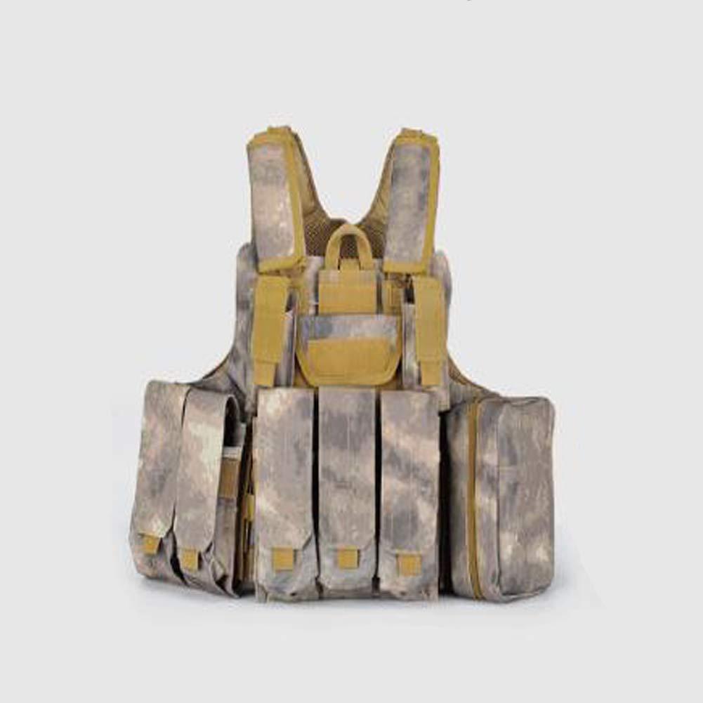 LXY&AI Militärische Taktische Weste - Multi-Phantom Ghost Commando Weste - Feld Weste Cs Ausrüstung Abnehmbare Tasche Outdoor-Dschungel Supplies - Schlamm