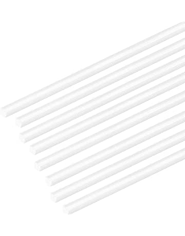 CLEAR ACRYLIC ROD 15MM 50MM LENGTHS ROUND PERSPEX SOLID BAR 100MM 500MM LONG