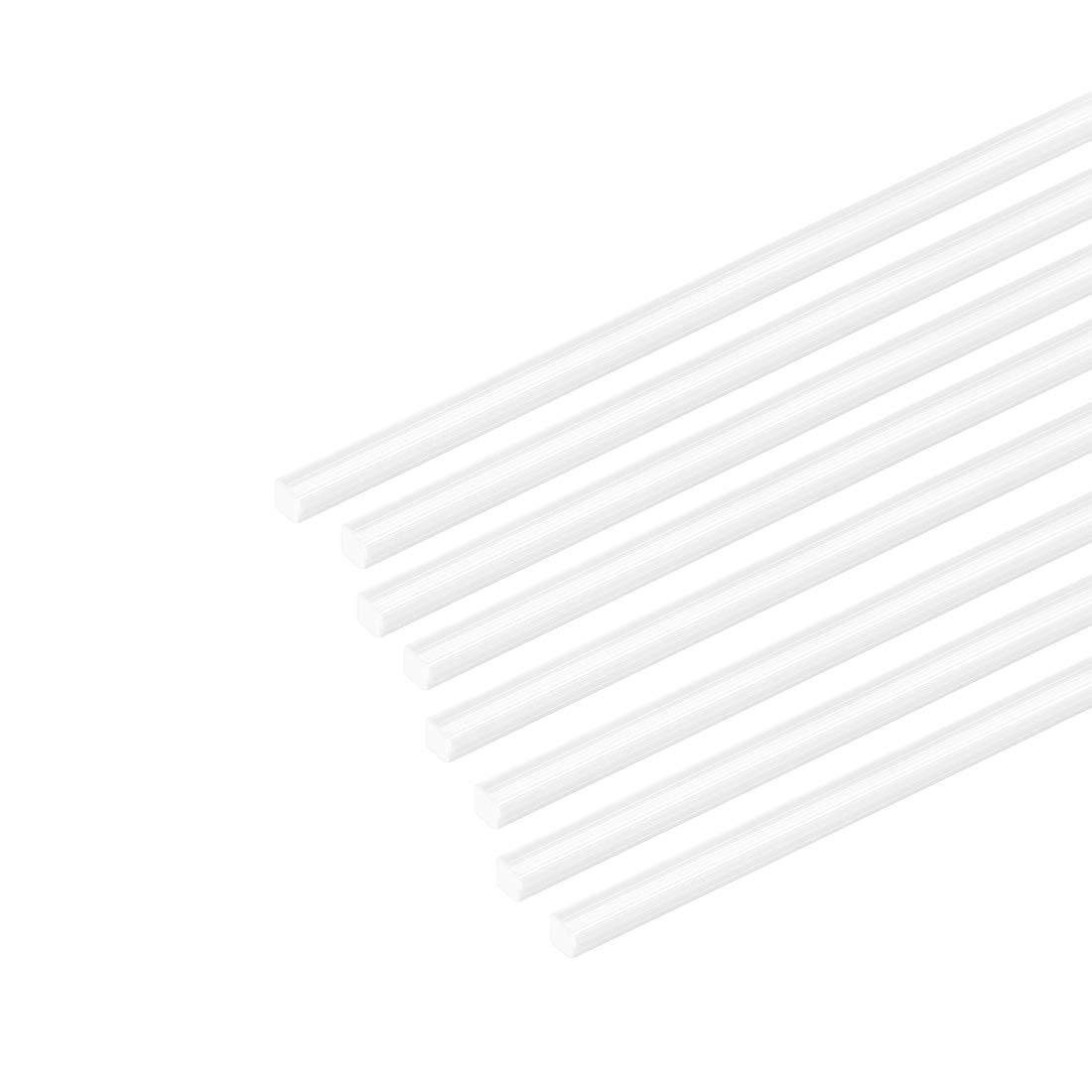 sourcing map 5 Stk Vierkantstange Stab f Architekturmodellbau ABS Kunststoff 0,5mm/×0,5mm/×20